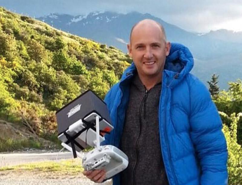 Jonathan Clark with drone