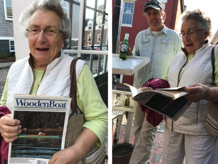 Honored to have guest speaker, Rick Kotalac of Brant Point Marine at the Nantucket event. His mom brought her copy of WoodenBoat magazine that featured an article of her son.