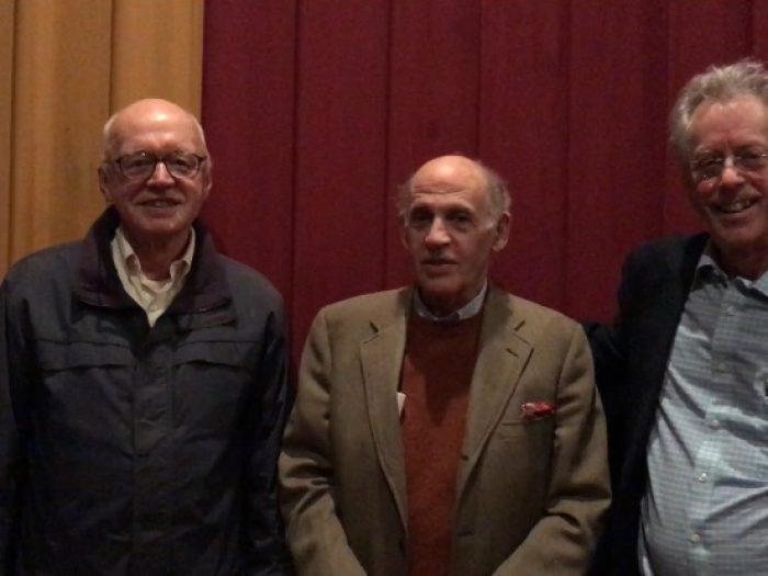 Mystic Seaport film premiere of The Restorer's Journey. (l to r): Craig Milner, Llewellyn Howland, Jon Wilson