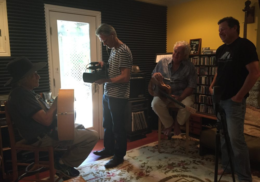 Filming legendary Ramblin' Jack and Peter Rowan