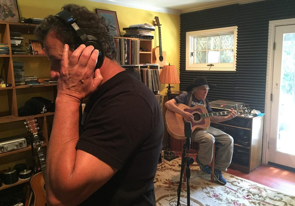 Don and Ramblin' Jack in the Mill Valley studio, The Dog House