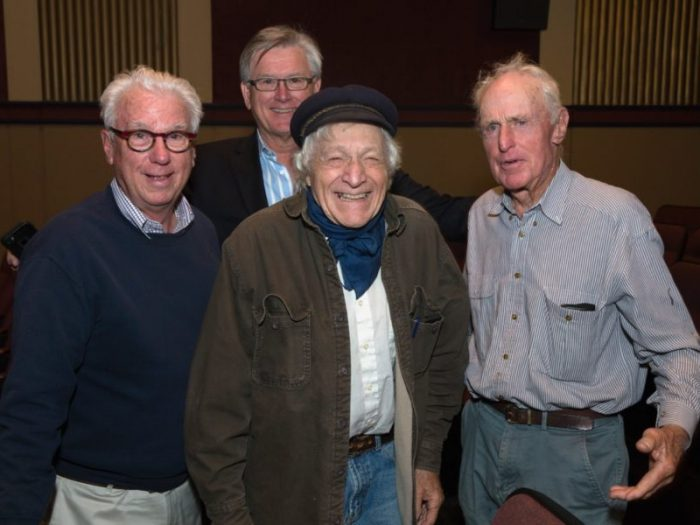 "Ron Holland, Roger Walsh, Ramblin' Jack and Warwick ""Commodore"" Tompkins"