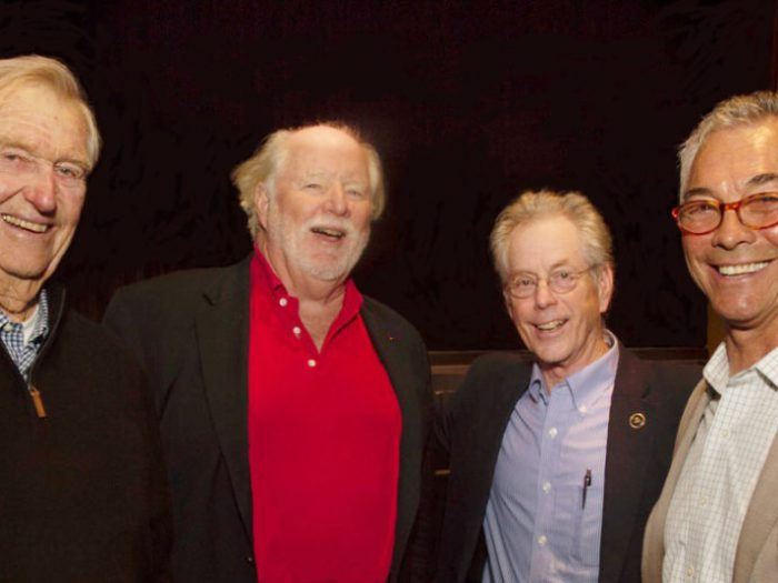 (l to r): Hank Easom, Dick Enerson, Jon Wilson, Ron Young photo: Richard Gelfand