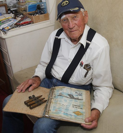 A gunner in WWII