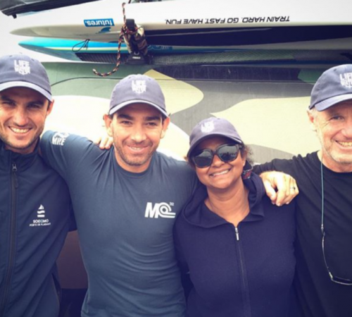 SUPs finest: Titiouan Puyo, Travis Grant, Flo and Alain Turquitel showing love for Life on the Water