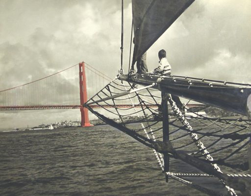 Wander Bird was the first non-commercial schooner to sail under the Golden Gate Bridge in 1937